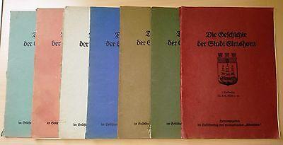 """""""Die Geschichte der Stadt Elmshorn"""" - 1.-7. Lieferung - komplett - ca. 1920"""