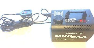 American DJ Mini Fog Machine & Wired Remote Tested Working](Mini Fog Machine)