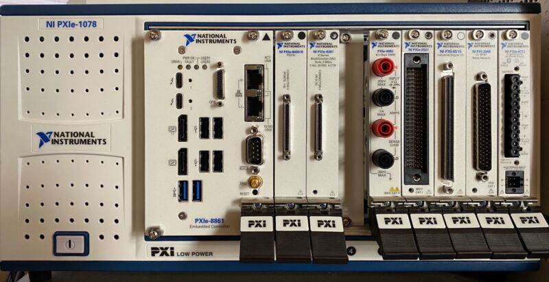 National Instruments NI PXIe-8430/8 RS232 8 port (and fan out cable SH68-8DB9)