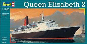 Revell - Queen Elizabeth 2 - 1:1200 Model Kit - REV05806