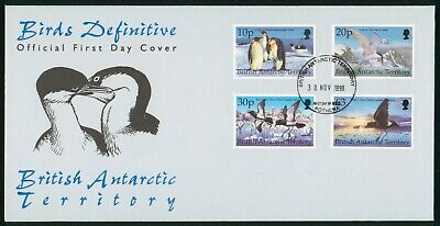 Mayfairstamps British Antarctic Territory 1998 Birds Combo First Day Cover wwo97