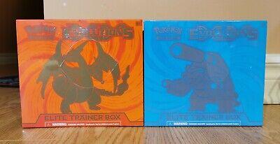 (2) x Pokemon TCG XY Evolutions Elite Trainer Box Charizard Blastoise 2 Box NEW