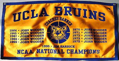 Ucla Bruins Basketball John Wooden Ncaa National Championship Banner