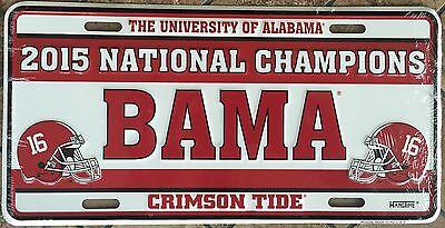 National Champions License Plate - ALABAMA 2015 NATIONAL CHAMPIONS CAR TRUCK TAG LICENSE PLATE 6