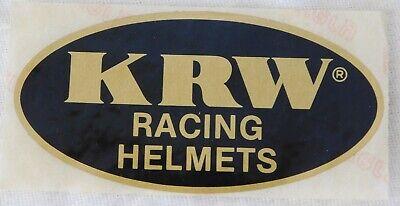 """VTG 1970's KRW MOTORCYCLE HELMET RACING ADVERTISING STICKER DECAL 4"""""""