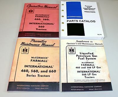 International Farmall 460 Tractor Operator Parts Preventive Lp Manual Catalog