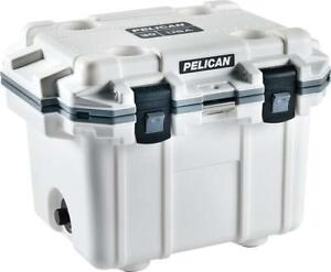 NEW Pelican Elite 30 Quart Cooler (White/Gray) Condition: New