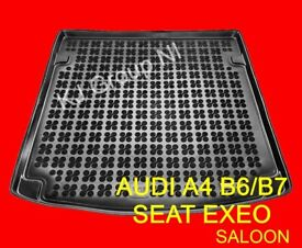 AUDI A4 B6/B7 / SEAT EXEO SALOON Tailored Rubber Boot Liner / Mat / Tray