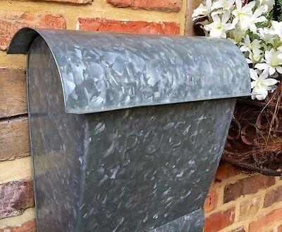 Wandbriefkasten aus Zink, Briefkasten mit Zeitungsfach