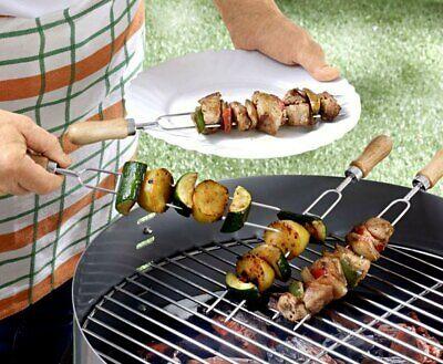 4er Set Edelstahl Grillspieße, ideal für's Grillen zum Wenden des Grillgutes