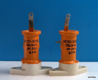 2pcs Rft Draloric Standard Capacitor Rc16x40 100pf 3kv 4.2kva Tesla Coil