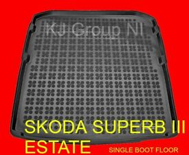 SKODA SUPERB III ESTATE 2015-on Tailored Rubber Boot Liner / Mat / Tray