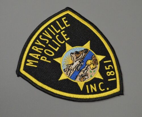 Marysville California Police Patch ++ Mint Yuba County CA