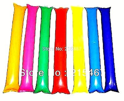 Football Noise Makers (6 set Cheering Sticks Bang Thunder Noise Makers Clappers Football Sports Party)