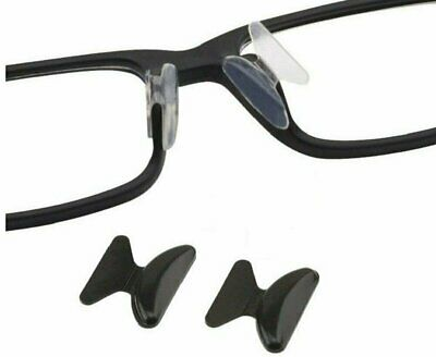 2 pairs Anti-slip silicone Stick On Nose Pads For Eyeglasses Sunglasses Glasses Health & Beauty