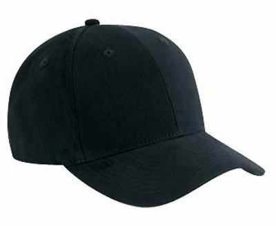 Brushed Cotton Twill Low Profile Pro Style Caps, Black