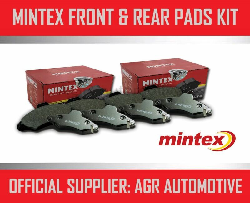 MINTEX FRONT AND REAR BRAKE PADS FOR LEXUS IS220D 2.2 TD 2005-11