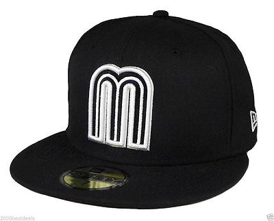 New Era 59Fifty Cap World Baseball Classic Style Mexico Fitted Hat Black White