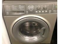 Silver Hotpoint super silent 9kg washing machine