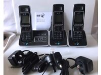 BT 6500 Cordless Trio Phone Set with Answer Phone Machine