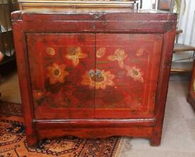 Antique Chinese hand painted sideboard