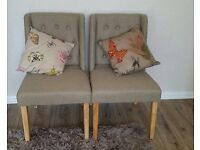 2 FABRIC CHAIRS