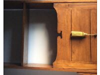 Beautiful Arts and Crafts Oak writing bureau with bookshelves