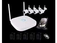 CCTV WIRELESS 1080P SYSTEM FULL HD PLUG AND PLAY EASY TO SETUP- REMOTE VIEWING OFFER