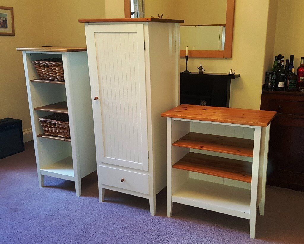 IKEA Children's Bedroom Furniture Set – Small Wardrobe, Tall Boy and Shelves