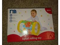 Brand new in box safari roll toy from mothercare