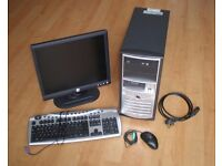 Good working PC with Cable, Dell Display, Mouse and Keyboard, Windows XP