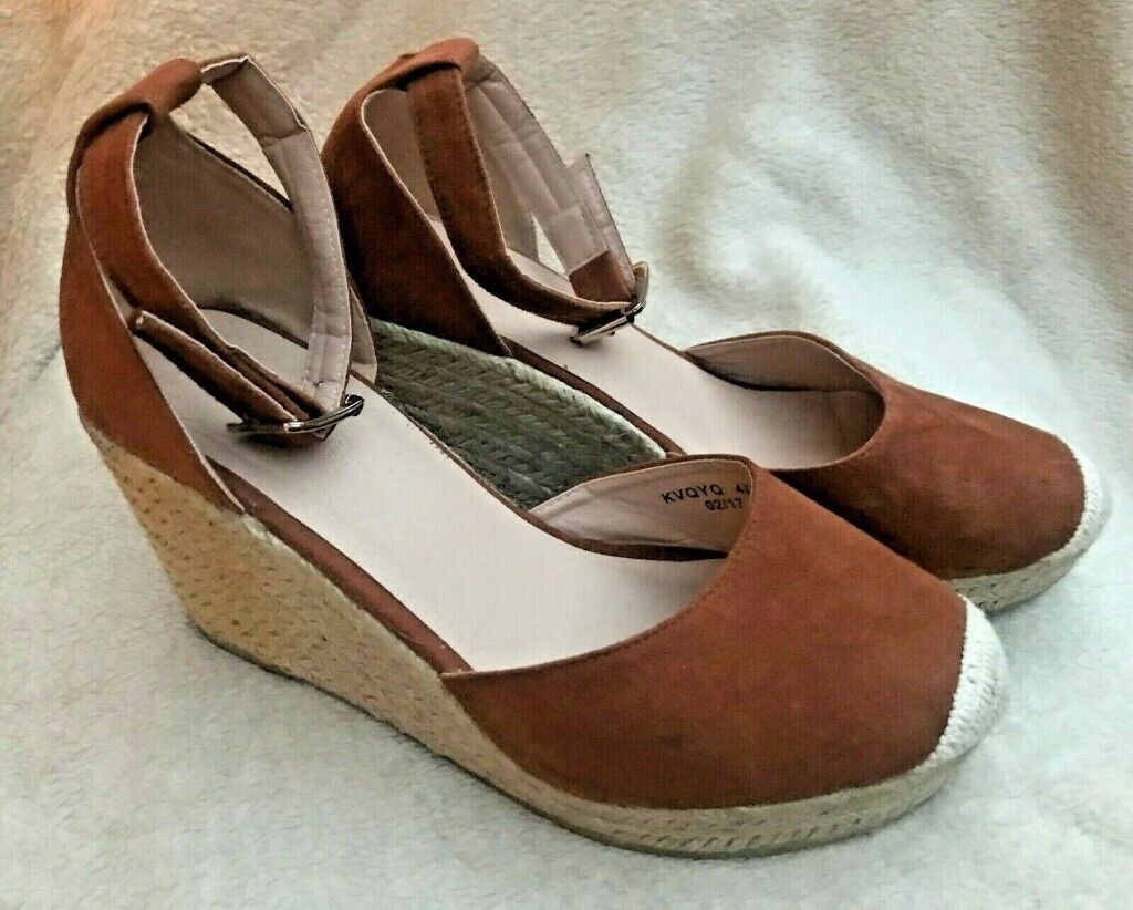 882bdd4ed2b WOMENS POLLY TWO PART ESPADRILLE WEDGE IN TAN SIZE 4 FROM VERY | in  Thrapston, Northamptonshire | Gumtree