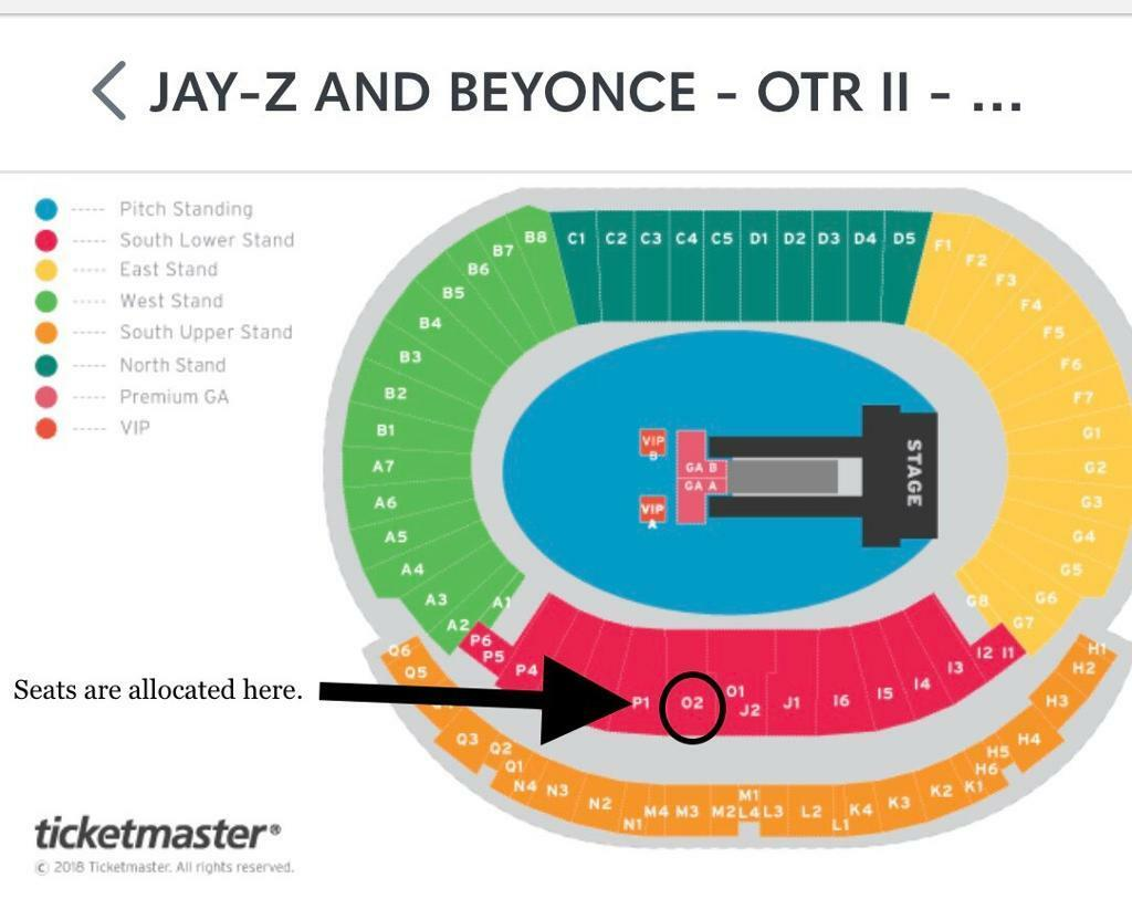 2 X Jay Z And Beyonce Otr Tour Vip Package Tickets Glasgow In