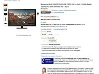 Blaupunkt BLA-236/207O-GB-3B-EGDP-UK 24-Inch LED HD Ready TV/DVD Kit with Freeview HD - Black