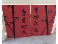 Japanese Canvas Pictures x2