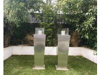 Two Gas Patio Heaters / Bio Ethanol Fireplaces - including 7L Eko BioEthanol fluid