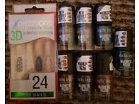 7 new nails Inc magnetic nail polishes and false nails