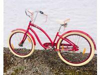 Beautiful Californian Ladies Cruiser Bike (Raspberry)