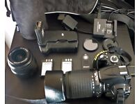 Nikon D5000 with 2x original lenses and accessories