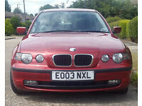 BMW 318 TI SE COMPACT FOR SALE, 1 previous owner, MOT until June 2018, Parking sensors, Immobiliser