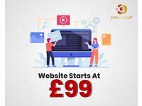 £99 SEO Friendly Website Design - PPC -Social Media Management -Mobile Application -Logo & Graphic