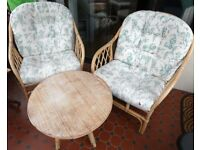 Conservatory furniture - chairs, settee and table