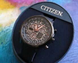 Citizen Eco-Drive Navihawk Genuine Men's Watch JY8035-04E in box