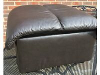 Stressless Leather Stool with Storage
