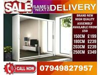 CLASSIC BRAND NEW 2 OR 3 DOOR WARDROBE (SLIDING) MIRROR Seminor