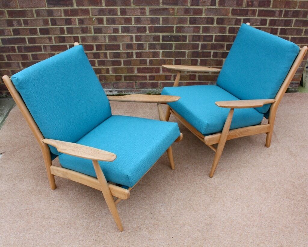 Mid century scandart chairs retro danish style 60s in for Furniture 60s style