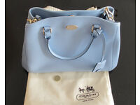 Brand New Coach Pastel Blue Medium Multi Strap Tote Leather Bag