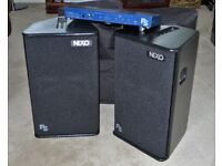 NEXO PS 10 PA SPEAKERS including covers and PS CONTROLLER