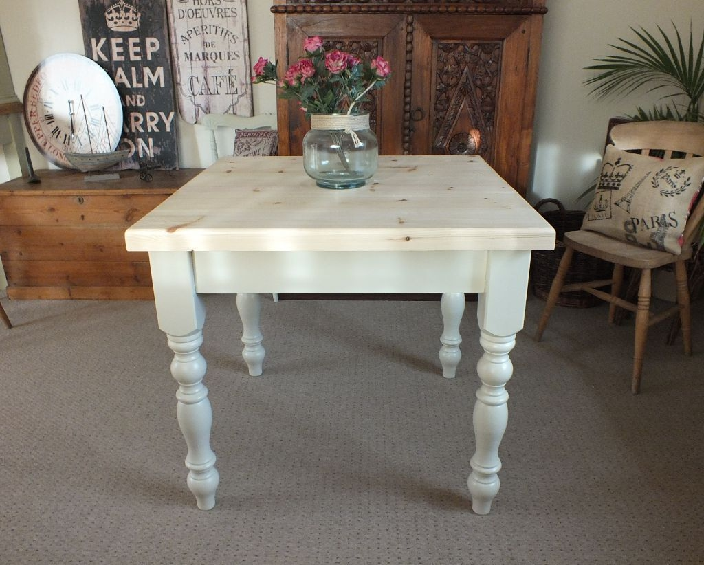 Pine Farmhouse Kitchen Table Lovely 3x3 Square French Shabbby Chic Style Pine Farmhouse