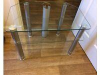 Free glass tv unit